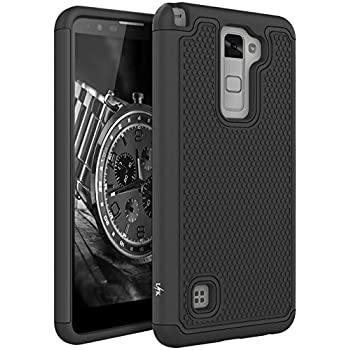 LG Stylo 2 Case, LK [Shock Absorption] Drop Protection Hybrid Dual Layer Armor Defender Protective Case Cover for LG Stylo 2 (Black)