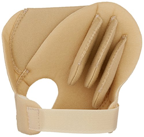 (Rolyan Sof-Foam Palm Shield for Right Hand, Foam Contracture Cushion to Support Fingers, Padded Hand Protector with Finger Separators for Right Hands, Medical Gloves for Stroke, Disabled, Elderly)
