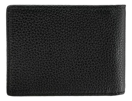 Men's WalletBe Men's Black Wallet WalletBe Black Leather RFID Pebbled Pebbled Leather Billfold Wallet Billfold RFID drq86dRAn