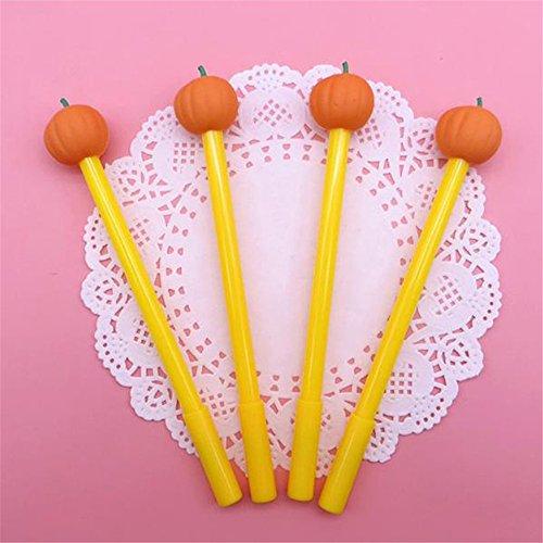 Stationery Halloween Set (Cute Kawaii Cartoon Halloween Pumpkin Shape Gel Ink Pens stationery gift items pens sets (12 pcs/set))