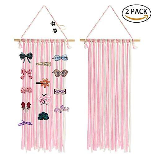 (Joylish Hair Bow Holder Organizer for Girls, Hanging Storage for Baby Girl Hair Headbands Clips Accessories)