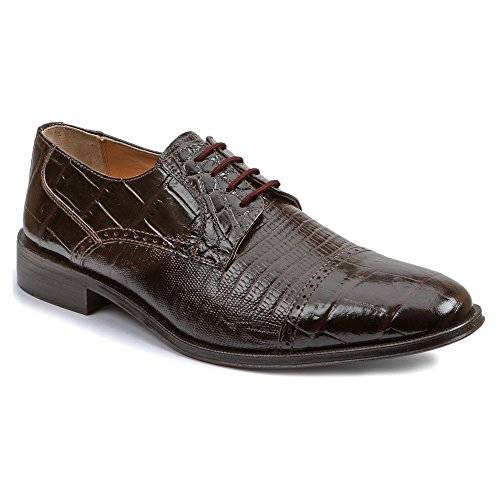Giorgio Brutini 21008 Menns Blucher Cap Toe Oxford Sko, Sjokolade, 11.5w