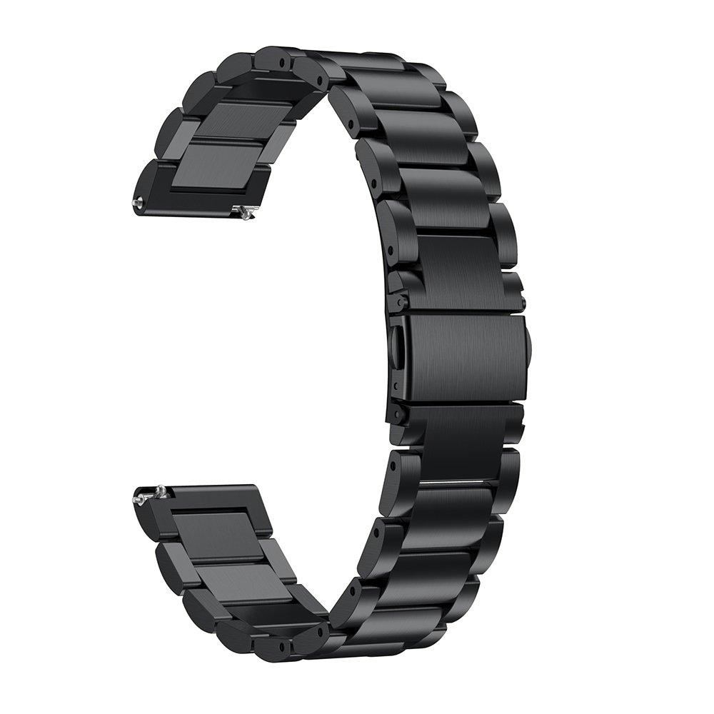 LDFAS Compatible for Fossil Q Band, 22mm Stainless Steel Metal Strap Compatible for Fossil Q Marshal, Wander, Founder Gen 2 /Explorist Gen 3 /Q Explorist HR Gen 4, Gen 5 Carlyle, Commuter, Black