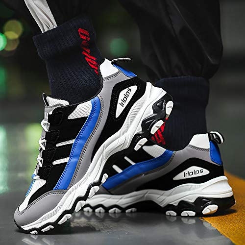 Zapatos Azul Correr De Deportivo Luckygirls Hombres Running Transpirable Marea Calzado Para Mezcla Color Zapatillas Casual dcyARcF