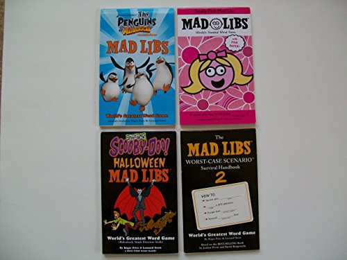 MAD LIBS Kids (Set of 4) Penguins of Madagascar; Totally Pink; Scooby-Doo Halloween...]()