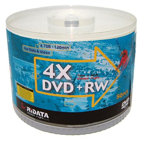 Ridata DVD+RW 4x 50-pack Spindle (Discontinued by Manufacturer)