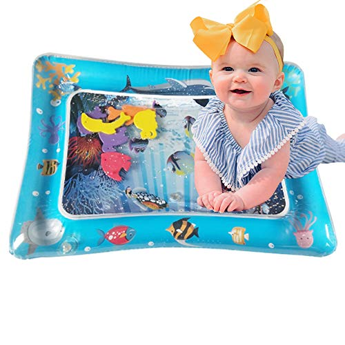 (BOMPOW Baby Inflatable Tummy Time Water Play Mat Infants Toddlers Perfect Fun time Play Activity Mat for Your Baby Stimulation Growth Skill)