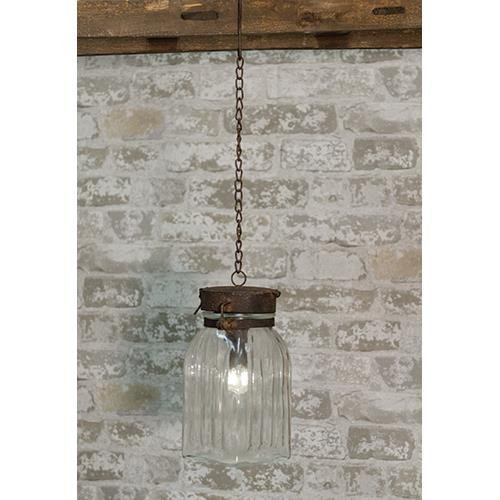 Heart of America Battery Operated Hanging Jar Lamp