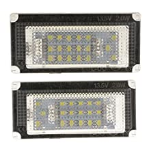 MagiDeal Pair Replacement 12V 18-LED License Plate Lights for BMW Mini Cooper R50 R52 R53
