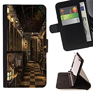 King Case - FOR Samsung Galaxy S4 Mini i9190 - a heart to understand - Prima caja de la PU billetera de cuero con ranuras para tarjetas, efectivo Compartimiento desmontable y correa para la mu?eca