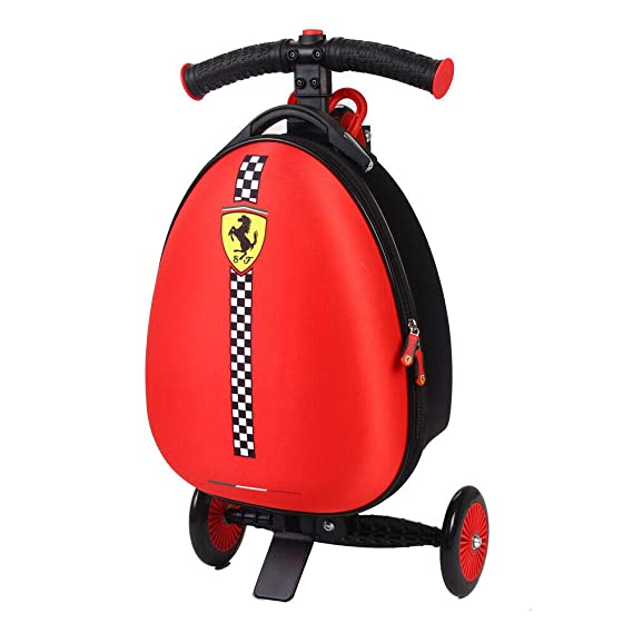 Amazon.com: Ferrari – Scooter Equipaje infantil, color rojo ...