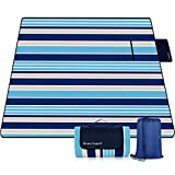 Mumu Sugar Outdoor Picnic Blanket, 3-Layer Extra Large Waterproof Portable Picnic Mat - Beach Blanket Sand Proof for Camping,Park,Beach,Hiking, Family Concerts