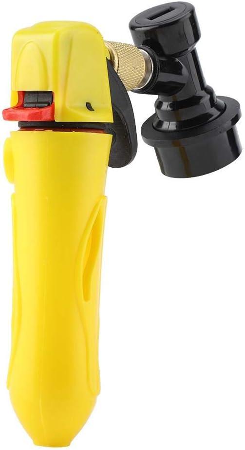 Black Accueil Brew Keg Charger Portable Keg Charger Injecteur de CO2 de poche /Équipement de brassage /à domicile