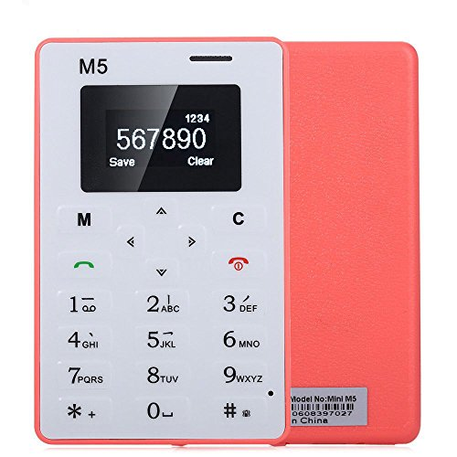 AIEK M5 Thin Bar Mini Pocket Mobile Cell Phone Card Alarm Clock 128M GSM For Kids