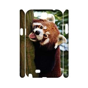 QNMLGB Hard Plastic of Raccoon Cover Phone Case For Samsung Galaxy Note 2 N7100 [Pattern-1] Kimberly Kurzendoerfer