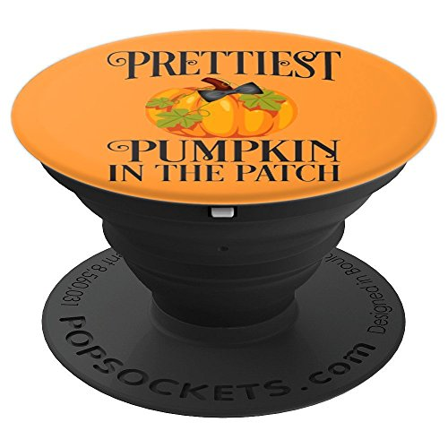 Prettiest Pumpkin In The Patch Cute Halloween - PopSockets Grip and Stand for Phones and Tablets -