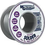 MG Chemicals 63/37 Rosin Core Leaded Solder, 0.05″ Diameter, 1/2 lb Spool,