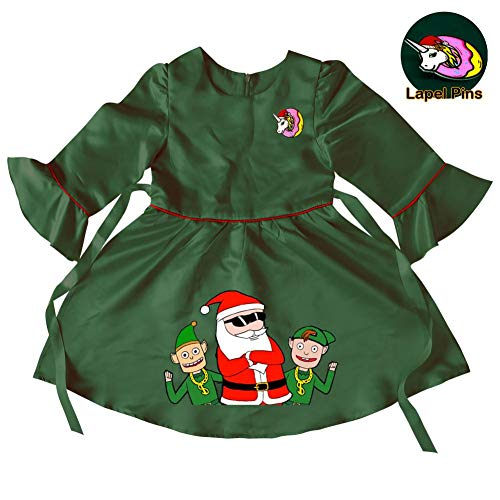 Baby Girls Santa Claus and Elf Princess Christmas Dress up for Toddler Party Fancy/Formal Costume Gowns 8-9 Years