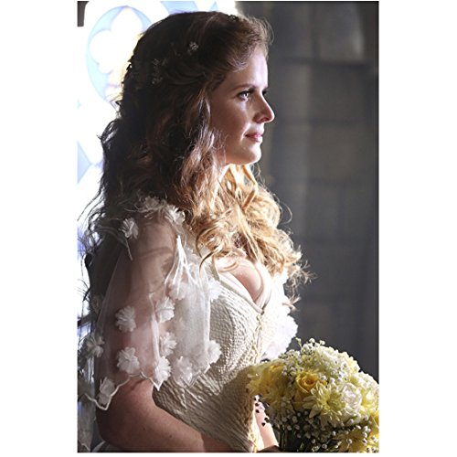 Rebecca Mader 8x10 Photo Once Upon a Time The Devil Wears Prada Iron Man in Bridal Gown Holding Bouquet Pose 3 kn