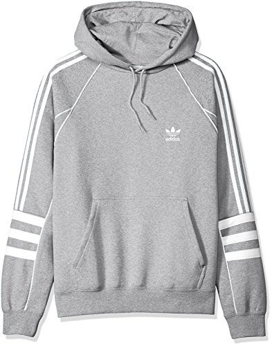 adidas Originals Men's Authentics Hoodie, Medium Grey Heather, M