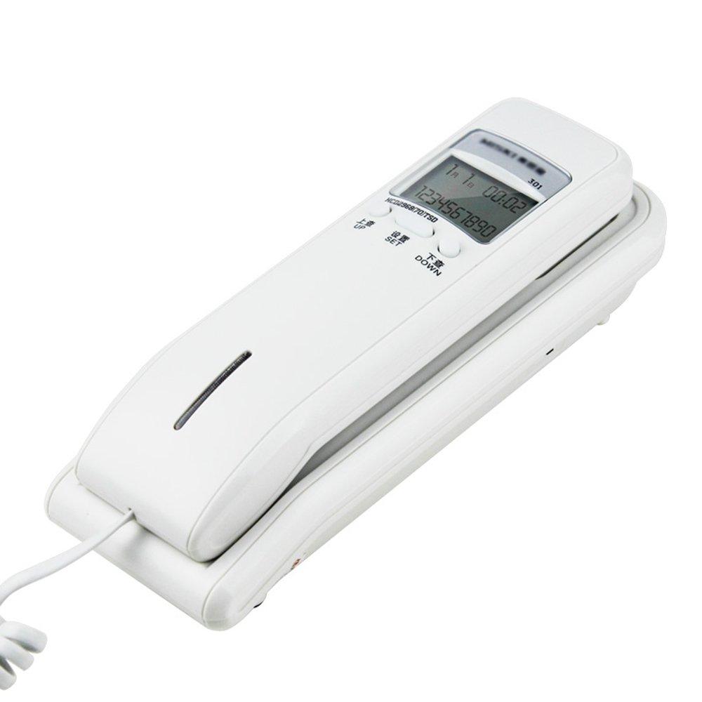 tel/éfono montado en la Pared Color : White GAIXIA Tel/éfono Fijo Familiar Mesa de Noche tel/éfono Negro//Blanco Tel/éfono
