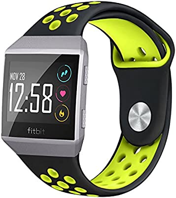 Amazon.com: NO1seller Top Fitbit Ionic Bands, Soft Silicone Sport Band Replacement Accessories with Ventilation Holes for Fitbit Ionic Smartwatch: Sports & ...