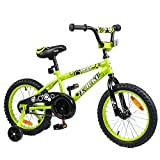 Tauki Kid Bike BMX Bike for Boys and Girls, 16 Inch, Lime, 95% assembled, for 4-8 Years Old