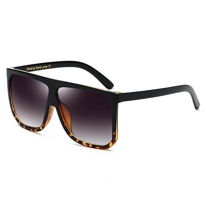 Fliegend Hombre Mujer Gafas de Sol Cuadrados Polarizadas Unisex Gafas Vintage Retro Gafas de Sol UV400 Lente Espejo Súper Ligero