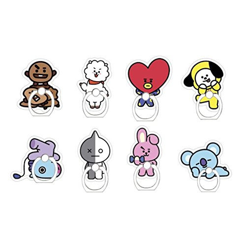 1PC BTS Cartoon Badge Phone Ring Buckle Holder, Keychain Pendant Tablets For iOS/ Android (#4 chimmy bracket)