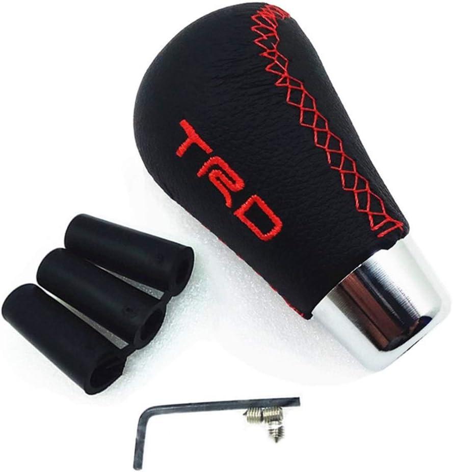 Ball Stick Shifter Universal MT PU Leather MOMO Manual TRD Gear Shift Knob Gearshift Shifter Stick Lever Headball Pen ARM for T oy/&OTA for V olks/&wagen Gear Stick