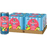 V8 Energy, Juice Drink with Green Tea, Diet Strawberry Lemonade, 8 oz. Can (4 Packs of 6, Total of 24)