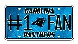 NFL Carolina Panthers #1 Fan Metal Auto Tag