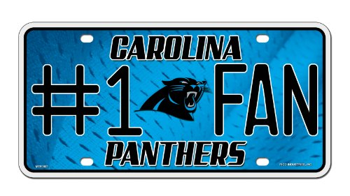NFL Carolina Panthers #1 Fan Metal Auto Tag (Carolina Panthers Accessories)