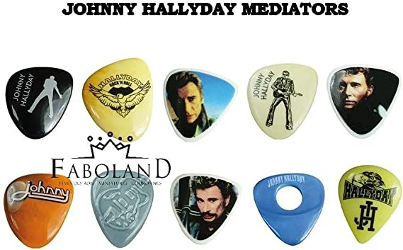 Johnny Hallyday Gold A4 Framed Display Affichage encadr/é de Plectrum de guitare pour ami