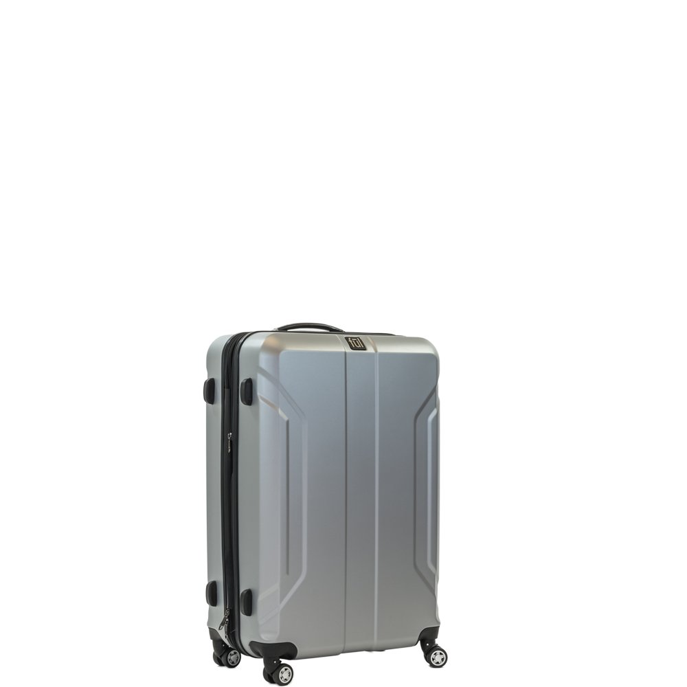 e6a40a4bb31a ful Luggage Payload 21in Spinner Rolling Luggage Suitcase, Upright Hard  Case, Silver