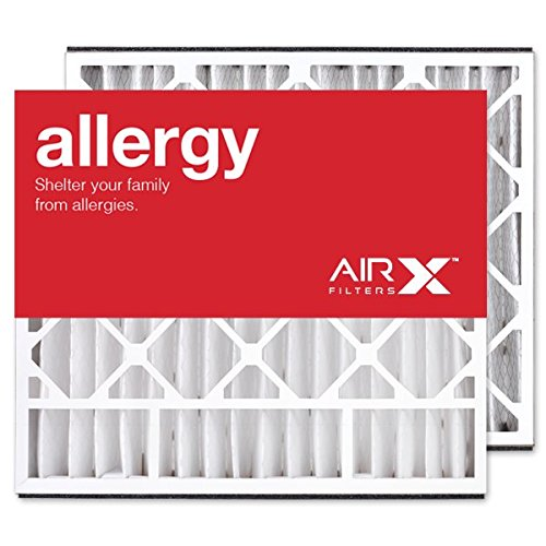 AIRx Filters Allergy 20x25x5 Air Filter MERV 11 Replacement for Skuttle 000-0448-002 000-0448-006 to Fit Media Air Cleaner Cabinet Skuttle DB-25-20, 2-Pack