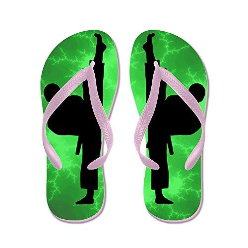 Cafepress Taekwondo Karate Green Boys - Infradito, Divertenti Sandali Infradito, Sandali Da Spiaggia Rosa