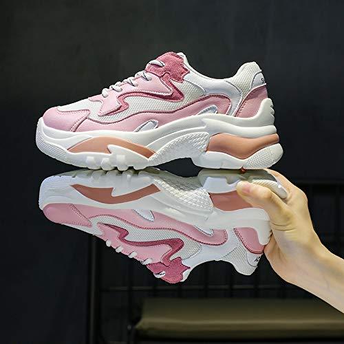 Zapatos Verano Cara Estudiante Transpirable Yundongxienv Malla Mujer Calzado Viejos La Deportivo Llama Harajuku De Salvaje Pink Femenino Ocasional pqOPxpw6