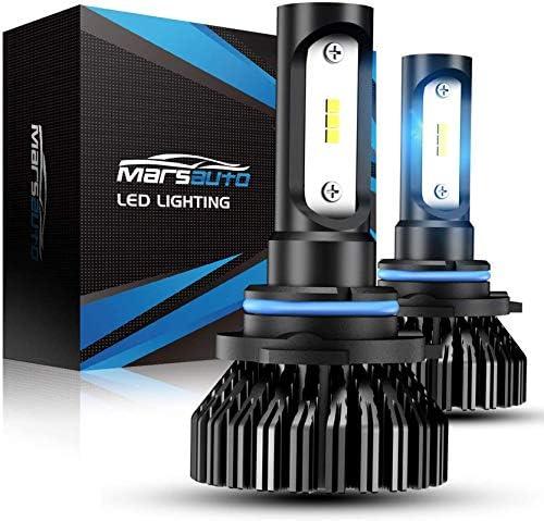 Marsauto 9006 LED Headlight Bulbs Low Beam 8000LM 6000K,200% Brightness, HB4 HB4U 9006XS Fog Light Head Light Bulb,12 CSP Chips Cool Bright,Pack of two