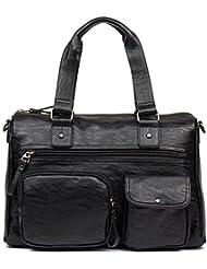 Men Leather Briefcase Laptop Vintage Handbag Business Shoulder Messenger Bag