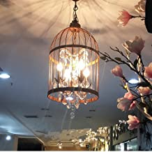 Crystal Chandelier Pendant Light, Bird cage chandelier, Cage Lights, Polished paint hand made from, Modern Home Ceiling Light Fixture Flush Mount (Bird cage crystal lamp)