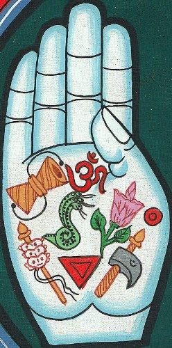 Exotic India HV46 Lotus Hands