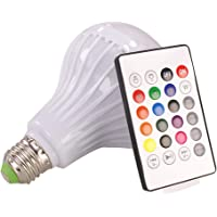 Outgeek LED Bulb E27 Built in Audio Speaker RGB Color Changing Light Bulb with Remote Control