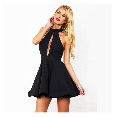 profiter du prix de liquidation grandes variétés baskets OUTLETISSIMO® Mini Robe Noire Robe Sexy décolleté Taille ...