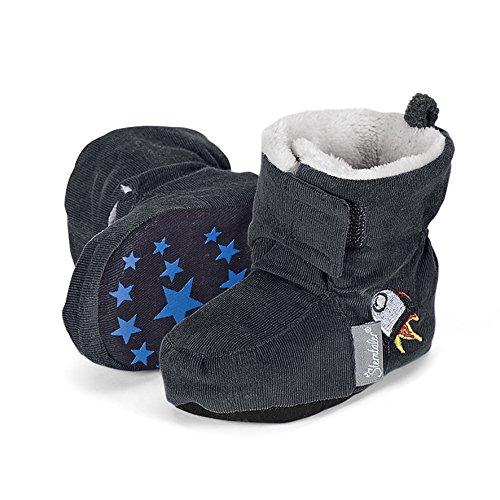 Sterntaler Baby Jungen Schuh Krabbelschuhe, Grau (Graphit 593), 18 EU