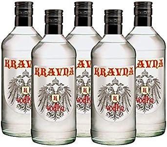 Vodka Kravna de 70 cl - Bodegas Grupo Estevez (Pack de 5 botellas): Amazon.es: Alimentación y bebidas