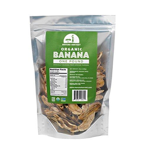 Mavuno Harvest Direct Trade Organic Dried Fruit, Banana, 1 Pound