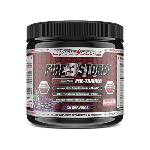 Dyna-Core Labs FireStorm 3 V2 Pre-Workout Powder With Scoopie - Increase Strength, 2x More Focus And Concentration, Elevated Endurance With Longer And Harder Pumps For Athletes (Grape Bubble (Time Greatest Bubble Gum)