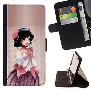 Jordan Colourful Shop - Cute Apple Princess For Apple Iphone 6 PLUS 5.5 - < Leather Case Absorci????n cubierta de la caja de alto impacto > -