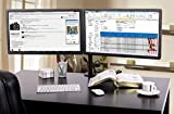 "EZM Dual Monitor Mount Stand holds monitors up to 27"" widescreen. Uses standard Vesa mount. Clamps to Desk. (002-0007)"